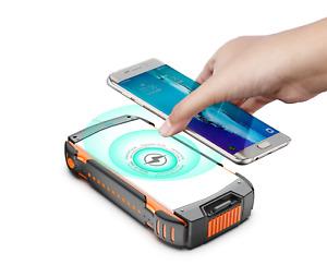 5000000 mAh Solar Charger Wireless Power Bank Waterproof Double USB Type-C Apple