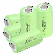 5pcs/pack Sub C SC 1.2V 2200mAh Ni-Cd NiCd Rechargeable Batteries Size:42*22mm