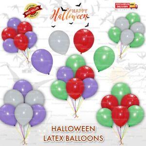 Halloween Balloons OrangeBlackWhite Fun Trick OR Treat Scary Party Decoration UK