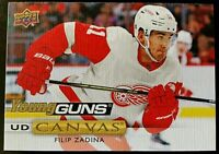 2019-20 Upper Deck Series 1 Filip Zadina Red Wings Canvas Young Guns C104 SP RC