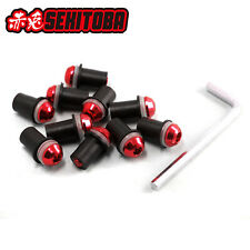 10pcs 5mm Bolts Well Nuts Hex Key Washers for Motorcycle Windscreen Windshield