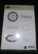 Stampin Up! PERFECT PUNCHES Unmounted Stamp Set Birthday Thanks Friend Christmas