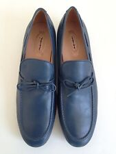 $625 Tod's Men's Blue Leather Tie Loafers Size 5.5(Tod's)/ 6.5US