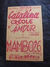 Spartito Catalina creoli d'amour Mambo 26 de Dad Reya Bolero mambo