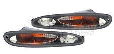 93-95 Mazda FD3S RX7 Black Housing Euro Smoke Clear Bumper Front Signal Lights