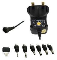 600mA AC DC Universal Mains Plug Power Supply Charger Adapter  3V-12V