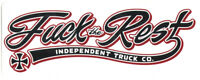 Independent Trucks FTR Script Skateboard Sticker skate built to grind new large