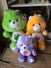 Lot of 3 20th Anniversary Care Bears Birthday Bear, Share, Good Luck,Tags Read