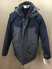 NEW IZOD Men's Blue & Gray 3 in 1 Winter Parka COAT JACKET (Size XXL) NWOT