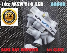 10x LED BULB KIT T10 W5W 501 BRIGHT INTERIOR WHITE 5050 1SMD 6000k 1yr Warranty