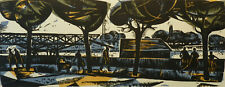 Original - vintage linocut - Slovak graphic art