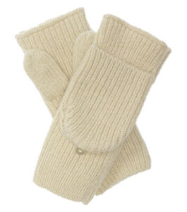 Club Monaco Women's Pavla Pop-top Glove, Cream, One Size, 8268-6