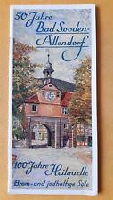 altes Reise Prospekt 50 Jahre Bad Sooden Allendorf, um 1932