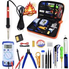 EU Plug 220V Soldering Iron kit With Multimeter Desoldeirng Pump Welding Tools