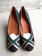 Brand New Chie Mihara Amareto Green Suede Gold court heels pumps size 40 UK 7