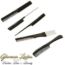 Black Head Jog Combs, Barber / Hairdressing Combs, Cutting Comb, Detangling, Pin