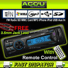 Non CD Car Stereo Radio SD MMC Card MP3 iPhone iPod USB Aux In Player Head Unit+