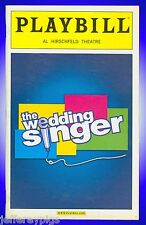 Playbill + The Wedding Singer + Laura Benanti, Stephen Lynch, Kevin Cahoon, OBC