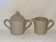 Fitz & FLoyd Greige Total Color Spectrum Porcelain Cream & Sugar Set- Japan