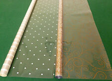 Punto bianco e oro scorrere ROTOLO 2 X 15 METRI regalo di Natale ROLL Wrap Pellicola