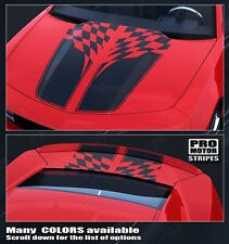 Chevrolet Camaro Checkered Flag Racing Stripes Set 2010 2011 2012 2013 Pro Motor