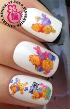 NAIL ART WATER TRANSFERS/DECALS/STICKERS WINNIE THE POOH & PIGLET HONEY POT #509