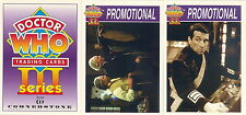 DOCTOR WHO SERIES 3 1995 CORNERSTONE COMM. COMPLETE PROMO CARD SET OF 3 C1 TO C3