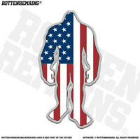United States Flag Bigfoot Decal Sticker USA Sasquatch Big Foot Skunk Ape EMV