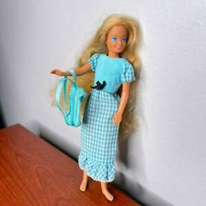 Vintage Skipper Barbie Doll Sister 80s 1973 Quick Curl Dress Long Hair Mattel
