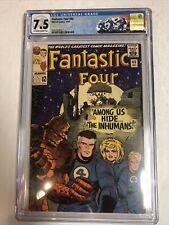 Fantastic Four (1965) 45 (CGC 7.0 OWTWP) | 1st Inhumans (Lockjaw, Black Bolt)