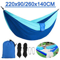 """Portable Outdoor Camping Hammock Chair Nylon Hanging Bed Swing 87""""x35""""/102""""x55"""""""