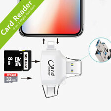 Memory Card Reader 4in1 OTG SD/TF Card Adapter For android IOS type C iPhone