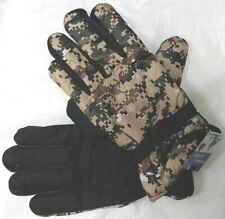 DIGITAL DESERT CAMO MEN DRIVING SPORT HANDS GLOVES DOTS GRIP FUR WINTER M/L/XL