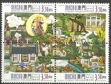 Macau - Guanyin-Tempel Viererblock postfrisch 1998 Mi. 987-990