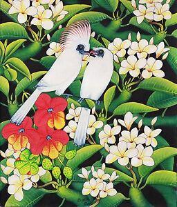 Hand painting Balinese Starling Birds 322