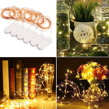 6x 10 LED Battery Copper Wire String Fairy Lights Warm White Wedding Party Light