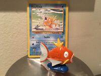 Pokemon TOMY CGTSJ Magikarp TCG Card Vtg Figure Lot Original Nintendo PVC 90s