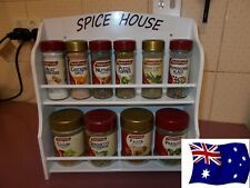 Spice Rack  10  to  14  jar SPICE HOUSE  IN White  New Design ( made in OZ )