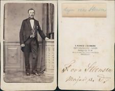Herold & Riemann, Breslau, Major von Steensen, circa 1865 CDV vintage albumen ca