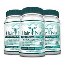HairNu - Natural Hair Loss Treatment - Fast Hair Growth   (3 Bottles)