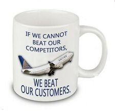 United Airlines Customers Coffee or Tea Mug 11 oz. Dr. David Dao Beating LOL