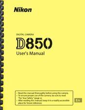 Nikon D850 Digital Camera OWNER USER'S MANUAL