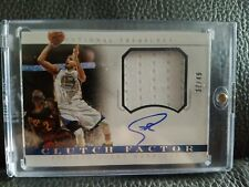 2015-16 National Treasures Stephen Curry Clutch Factor On-Card Auto Patch SSP