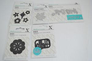 XL Konvolut 9 x Schablonen Stanz- Schneide- Prägeschablone Paket  Blume Happy Da