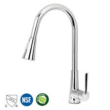 Kitchen Faucet Chrome Single Handle with Pull Out Sprayer, Kitchen Sink Faucet