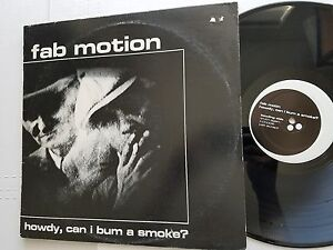 FAB MOTION - Howdy, Can I Bum A Smoke? 1987 INDIE ALT ROCK (LP)