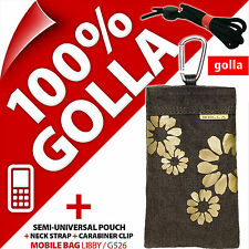Golla Brown Phone Case Cover Pouch Bag + Zipped Pocket For Candy Bar Phones