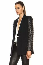 Versace Pre-Fall 2014 Blazer With Leather Sleeves Size 38IT