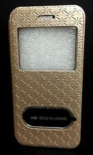 Champagne Flip Leather View Window Case Cover for Apple iPhone 6 USA SELLER!