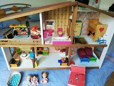 Puppenhaus Holz Licht/Klingel /Puppen